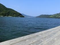 【専用桟橋】 釣りを楽しめます