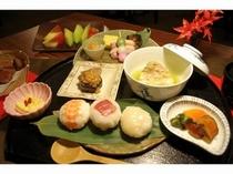 ■夕食:和懐石メニューは新鮮&ヘルシーなメニュー
