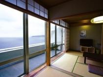 ■客室:相模湾を一望!全室オーシャンビュー!