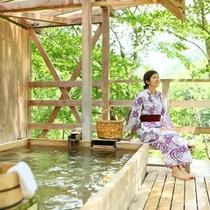 ◆天空の小鳥風呂【角】 自然の音だけが聞こえます