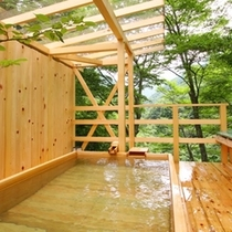 ◆天空の小鳥風呂【角】 自然を感じながらの貸切露天風呂