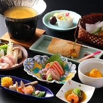 ◆信州ハーブ鶏鍋の一例