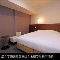 ダブルルーム ベッド幅160㎝ 19㎡