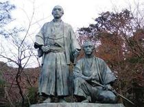 円山公園(龍馬と中岡)