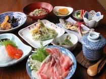 夕食の奥飛騨郷土料理