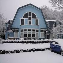 冬季シーズンにはこんな風景も。