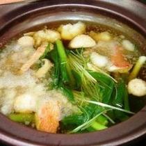 冬の霞み鍋