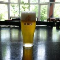 当館の生ビールはエビス♪風呂上りに乾杯!!