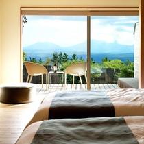 【草】阿蘇五岳が最も綺麗に望めるお部屋です