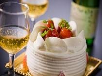 ケーキ&スパークリングワイン