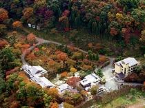 秋の全景(航空画像)