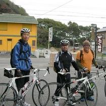 自転車旅行にもご利用いただいております