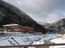 昼神温泉の冬