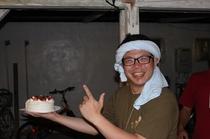 ジミーちゃんの誕生日!!!来年も一緒にパーティしましょ〜