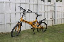 無料自転車貸し出し中。要予約です。