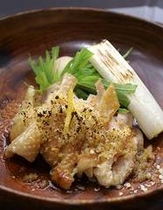 宮城の赤鶏柚子風味根菜焼き