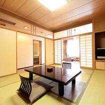 長生館…和室13畳、広縁、バルコニー、バス・トイレ付。
