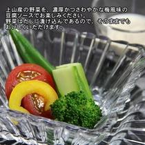 座付 夏野菜サラダ