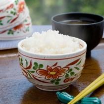 スタッフ手作りの三重県産こしひかりの炊き立てご飯とお味噌汁