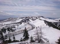 志賀草津高原ルートの雪の壁