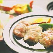 夕食一例_みゆきポークの陶板焼き