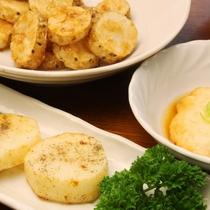 夕食一例(秋冬)_自然薯素揚げ