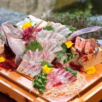 熊本の天草産の鯛のお造り