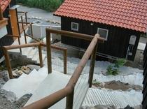 外観階段スロープ