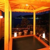【無料貸切露天】夜の『漁火』