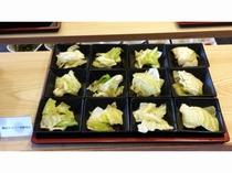 夕食ビュッフェ群馬地場産コーナー(嬬恋キャベツ)
