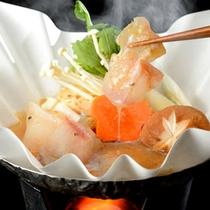 福島名物のアンコウ鍋は、身が厚く、味も絶品。