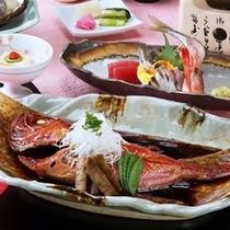 金目鯛付 和食会席一例