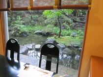 レストラン「浮舟」の庭園