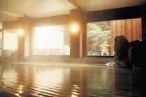 本館大浴場。アルカリ性単純泉で肌に優しい温泉です