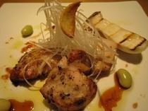 知床鶏のオーブン焼き 山わさび風味