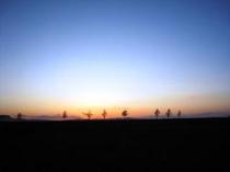 メルヘンの丘の夕陽