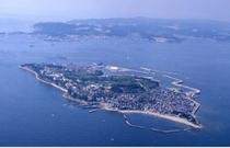 日間賀島全景