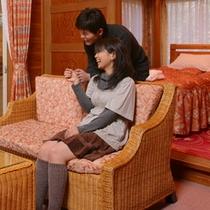 露天風呂付きコテージ「花ホテル」客室一例