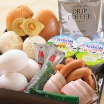 【朝食】お部屋へお届けメニューの朝食食材