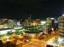 上層階駅側夜景