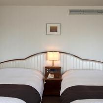 当ホテル2部屋限定!セミダブルベット2台のお部屋