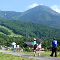 ■蓼科山と遊歩道