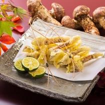 独特な香りと食感を五感で楽しむ「天ぷら松茸」