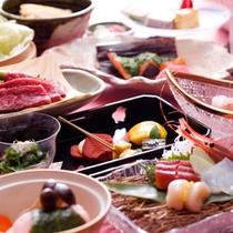 """日本料理""""木漏れ日会席""""一例"""