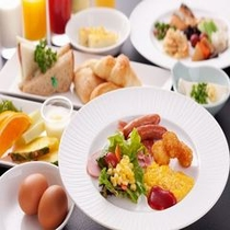 ホテル朝食一例
