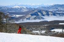 白樺高原国際スキー場からの眺望