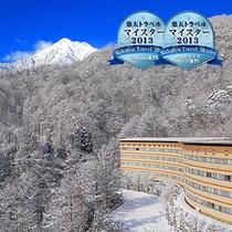 ホテルアンビエント安曇野外観・冬