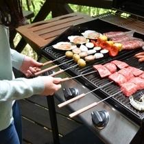 ■お部屋でお食事♪ケータリング例■ BBQコテージ限定で楽しめます♪香ばしく焼き上げます!