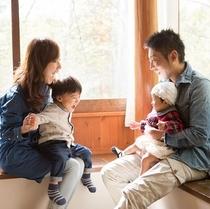 ■コテージの過ごし方例■お部屋で家族のんびり