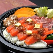 ■お部屋でお食事♪ケータリング例■ 信州贅沢焼き。信州の贅沢が集合♪アツアツで召し上がれ♪